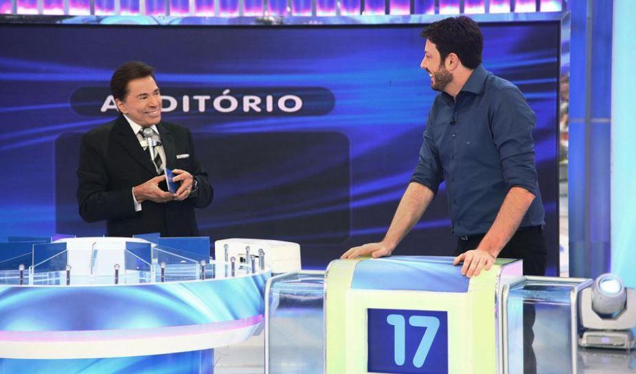 Silvio Santos e Danilo Gentili (Foto: Divulgação)