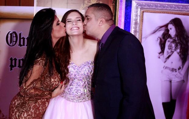 Solange Gomes, Stephanie e Waguinho (Foto: Arquivo pessoal)