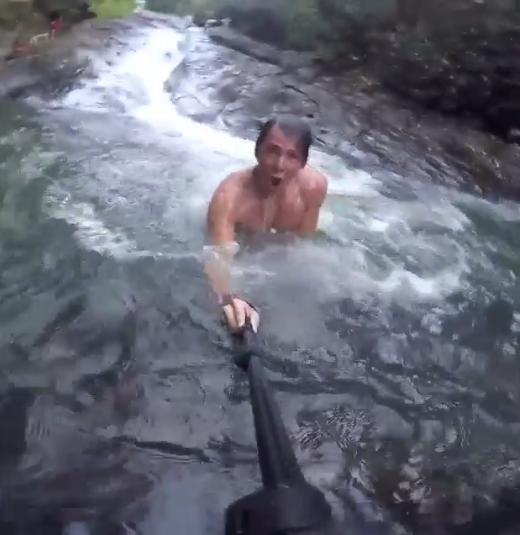 Imagem de vídeo do grupo de youtubers mostrando como eles se arriscavam (Foto meramente ilustrativa/ Reprodução)