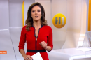 A apresentadora Monalisa Perrone no Hora Um (Foto: Reprodução/Globo)