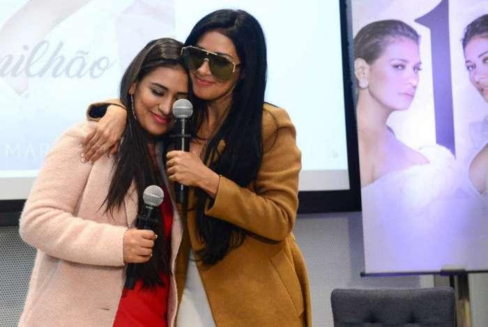 Ao lado da irmã Simone, Simaria participa de entrevista coletiva para falar sobre sua volta aos palcos - Ag. News