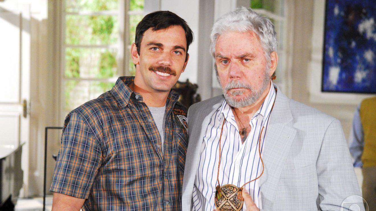 Marcelo Faria e Reginaldo juntos em Beleza Pura (Foto: Divulgação)