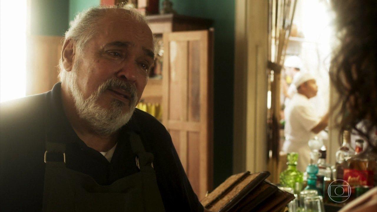 Agenor (Roberto Bonfim) em cena de Segundo Sol (Foto: Reprodução/Globo)