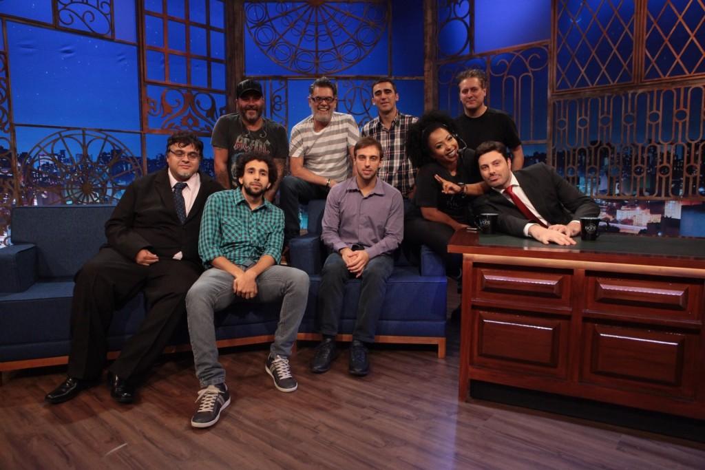 O time do programa The Noite (Foto: Divulgação)