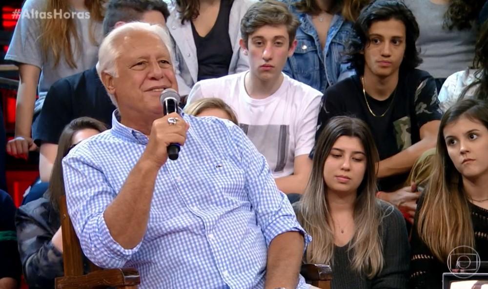 Antonio Fagundes no Altas Horas (Foto: Globo)
