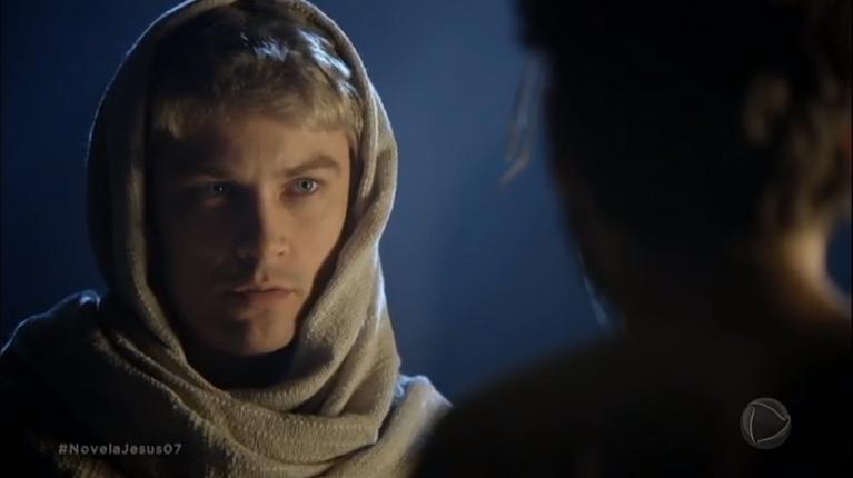 Raphael Sander (Anjo Gabriel) em cena da novela Jesus (Foto: Reprodução/Record)
