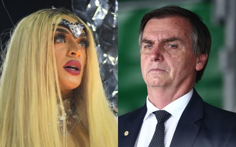 Pabllo Vittar e Jair Bolsonaro (Foto: Reprodução)