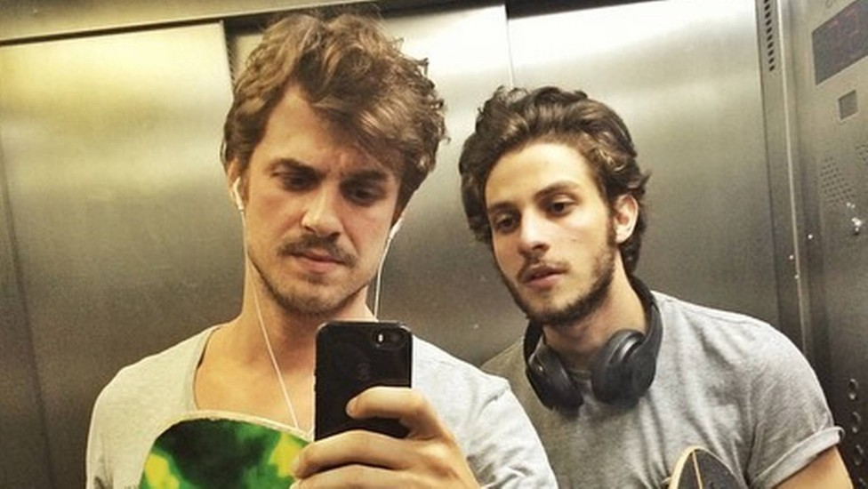 Daniel Erthal e Chay Suede (Foto: Reprodução)
