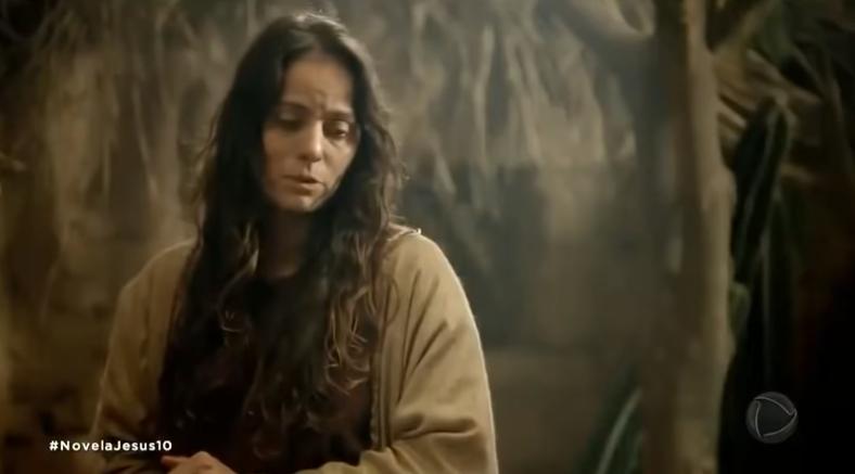Cláudia Mauro vive Maria na segunda fase da novela Jesus. (Foto: Reprodução)