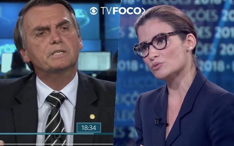 Jair Bolsonaro falou sobre diferença salarial de Bonner e Renata Vasconcellos ao vivo no JN