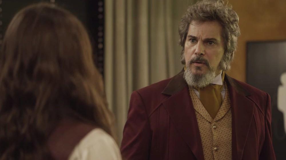 Dom Sabino (Edson Celulari) em cena deO Tempo Não Para (Foto: Divulgação/Globo)