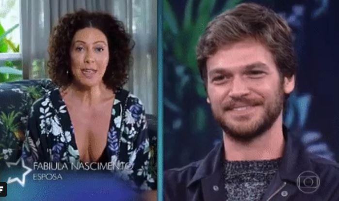 Fabiula Nascimento deixou recado para Emilio Dantas (Foto: Reprodução/Globo)