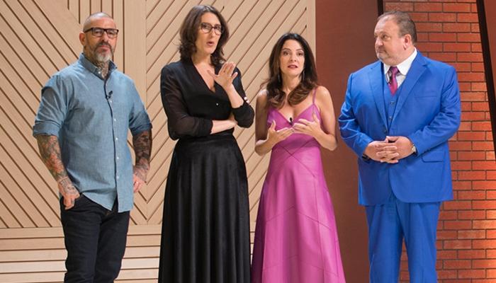 Henrique Fogaça,Paola Carosella, Ana Paula Padrãoe Eric Jacquin no MasterChef (Foto:Carlos Reinis/Band)