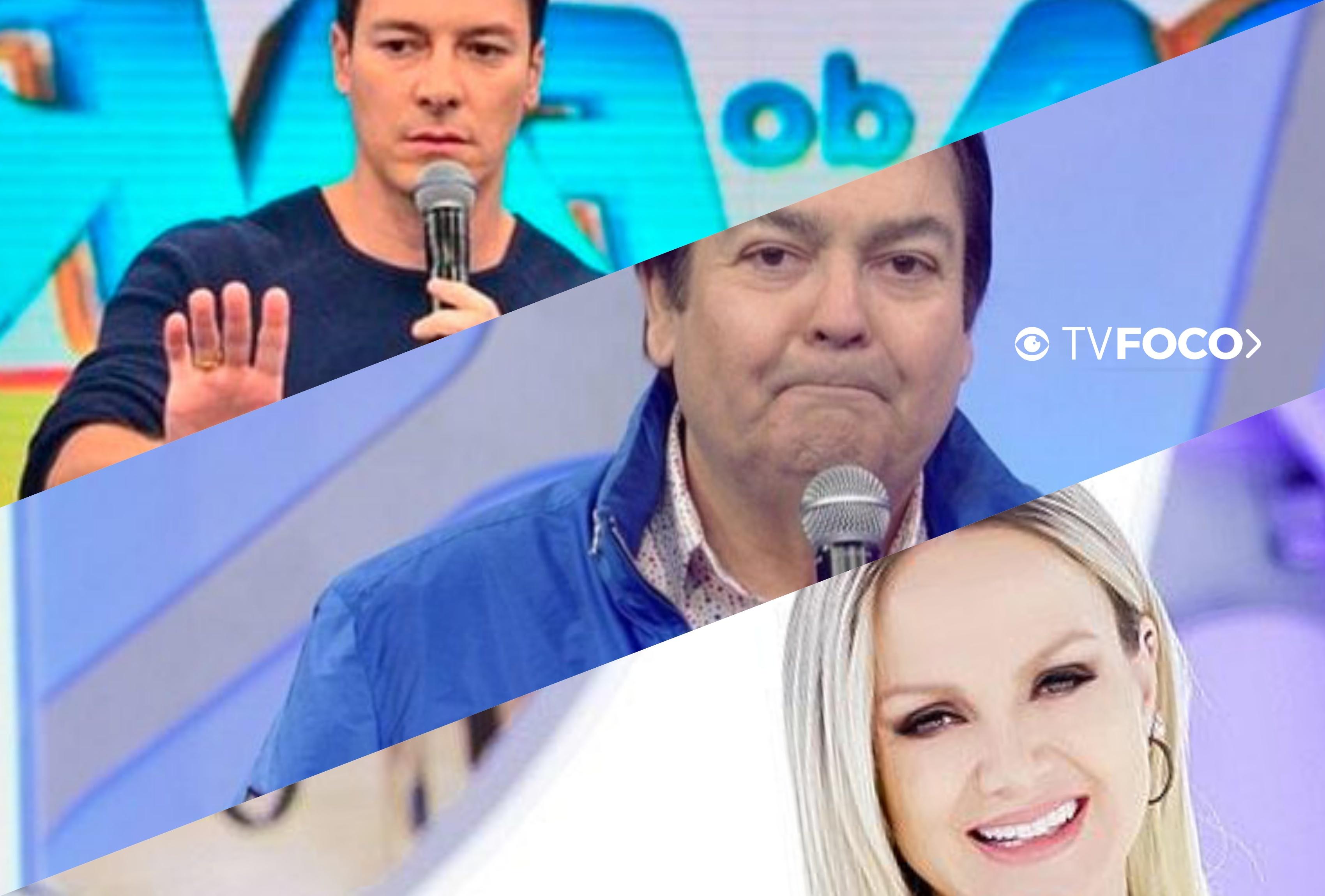 Rodrigo Faro, Faustão e Eliana estão entre os apresentadores mais bem pagos da TV (Foto reprodução)