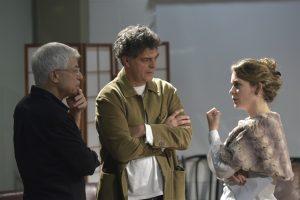 Cláudia Abreu e Eduardo Moscovis no Seminário para atores com o diretor argentino Juan Carlos Corazza (Foto: Globo/Erik Barros Pinto)
