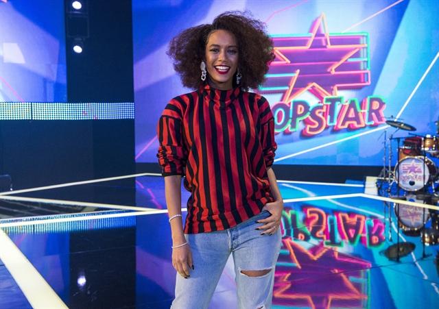 Apresentadora Taís Araújo no lançamento da 2ª temporada do PopStar (Foto: Globo/Estevam Avellar)