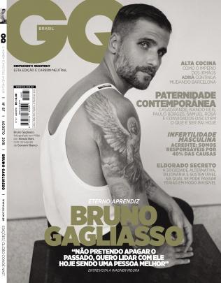 Bruno Gagliasso na capa da revista GQ Brasil de agosto (Foto: Divulgação)