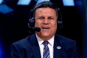 """Téo José foi """"trollado"""" por telespectador durante transmissão. (Foto: Reprodução)"""
