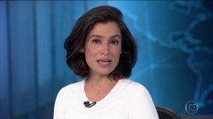 A apresentadora Renata Vasconcellos no Jornal Nacional (Foto: Reprodução/Globo)