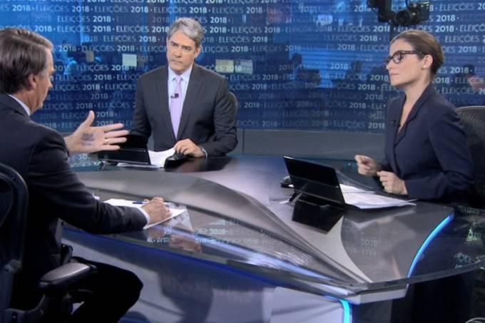 (Jair Bolsonaro falou sobre diferença salarial de Bonner e Renata Vasconcellos ao vivo no JN