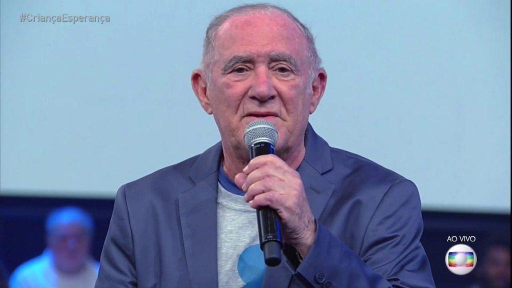 Renato Aragão na edição 2018 do Criança Esperança (Foto: Reprodução/Globo)