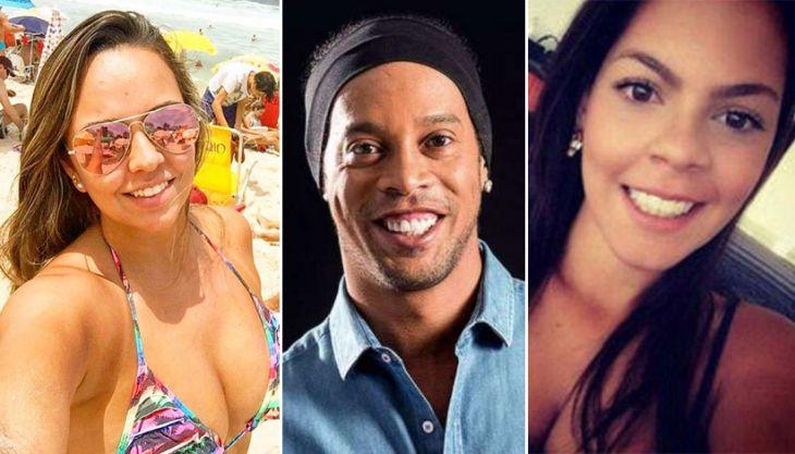 Priscilla, Ronaldinho e Beatriz moram juntos desde dezembro do ano passado (Foto: Divulgação)