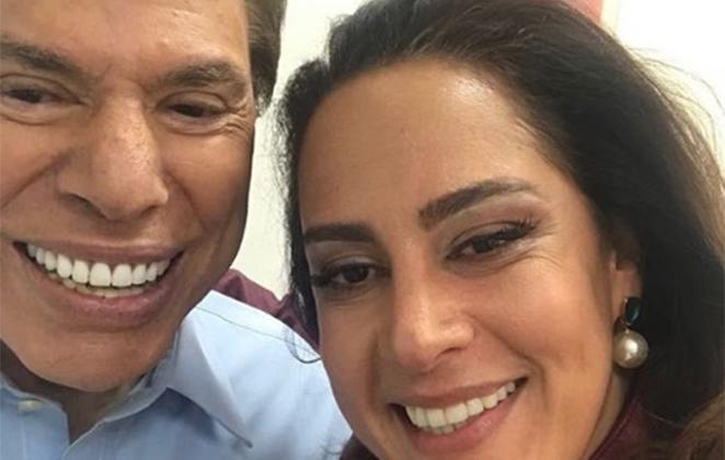 Silvio Santos posou sorridente com Silvia Abravanel (Foto: Reprodução/Instagram)