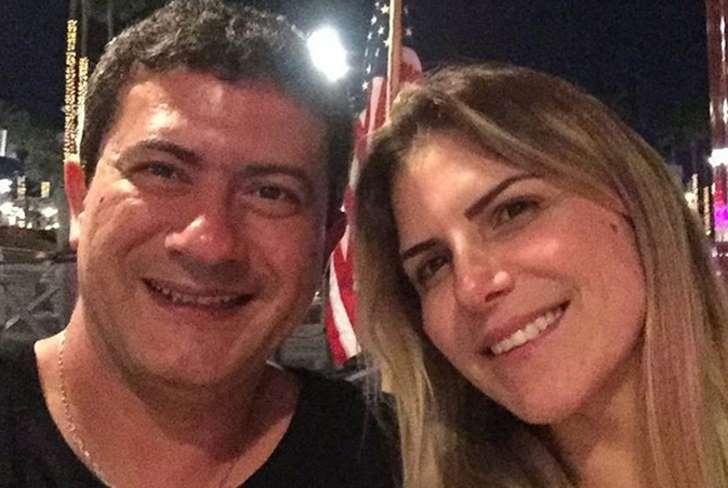 Tom Veiga, o Louro José, e a ex-esposa, Alessandra Veiga