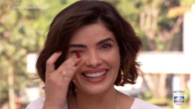 Vanessa se emociona na Globo (Foto: Reprodução)
