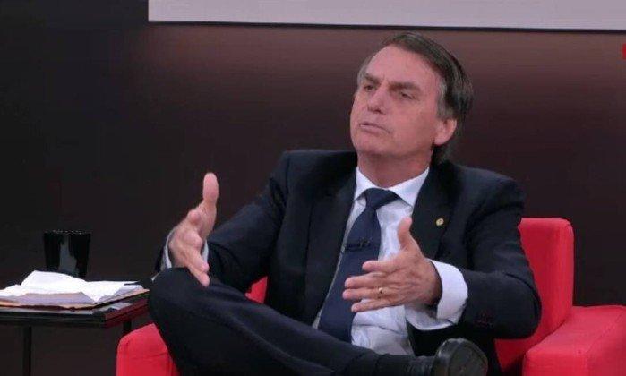 Jair Bolsonaro em entrevista à GloboNews (Foto: Reprodução)