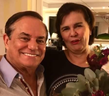 Ronnie Von e a esposa, Kika (Foto: Divulgação)