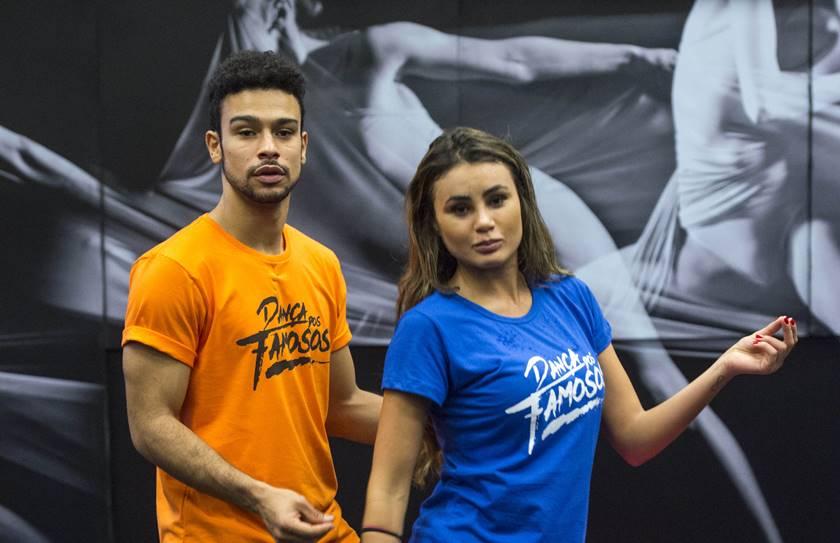 Sérgio Malheiros e Natacha Horana, que deixou a Dança dos Famosos a pedido dele (Foto: Reprodução)