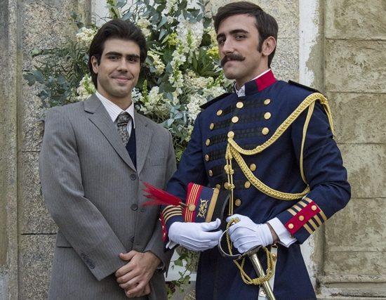 Luccino (Juliano Laham) e Otávio (Pedro Henrique Muller) em Orgulho e Paixão (Foto: Globo/Estevam Avellar)