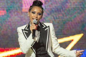 A apresentadora Taís Araujo na estreia da 2ª temporada do PopStar (Foto: Globo/Estevam Avellar)