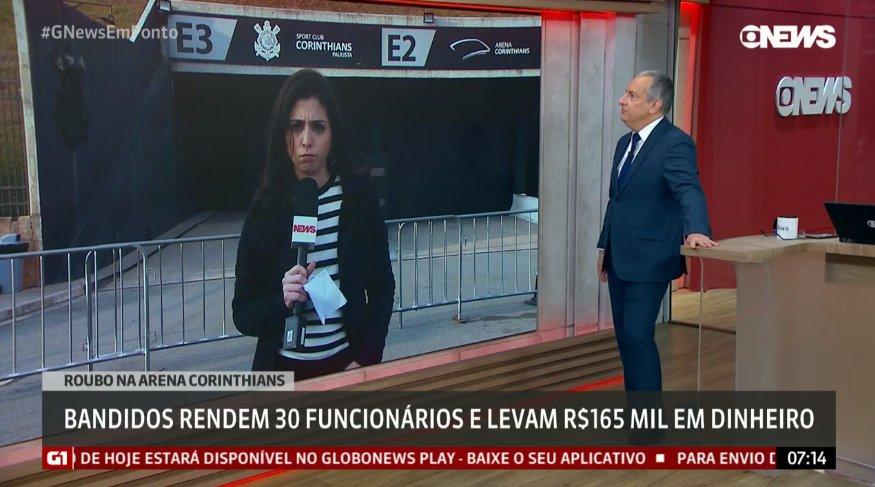Jornalista José Roberto Burnier fez um comentário pejorativo contra corintianos na GloboNews (Foto: Reprodução)