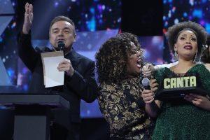 Gugu Liberato na final da 1ª temporada do Canta Comigo (Foto: Divulgação/Record)