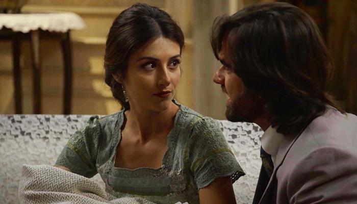 Cecília (Anaju Dorigon) e Rômulo (Marcos Pitombo) em cena de Orgulho e Paixão (Foto: Divulgação/Globo)