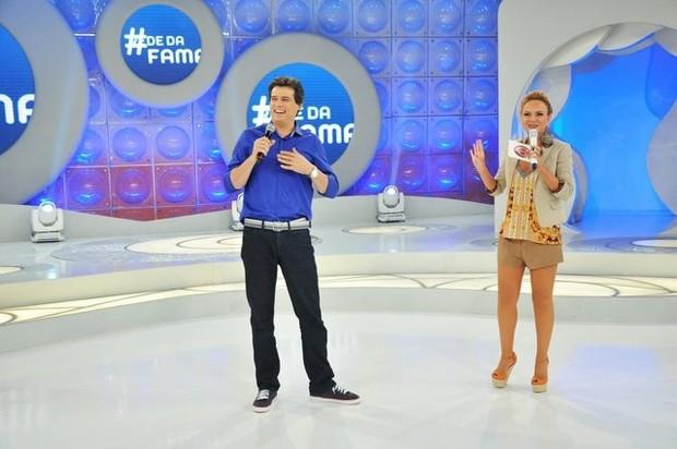 Celso Portioli e Eliana foram dois dos famosos do SBT que deram as caras na Globo (Foto: Divulgação)