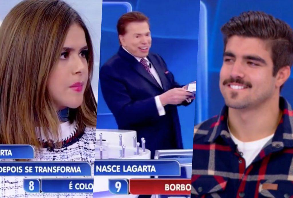 Maisa e Caio Castro estiveram no Programa Silvio Santos do SBT (Foto reprodução)