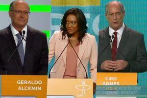 Detalhe no debata com candidatos a Presidência na TV Aparecida roubou todas as atenções