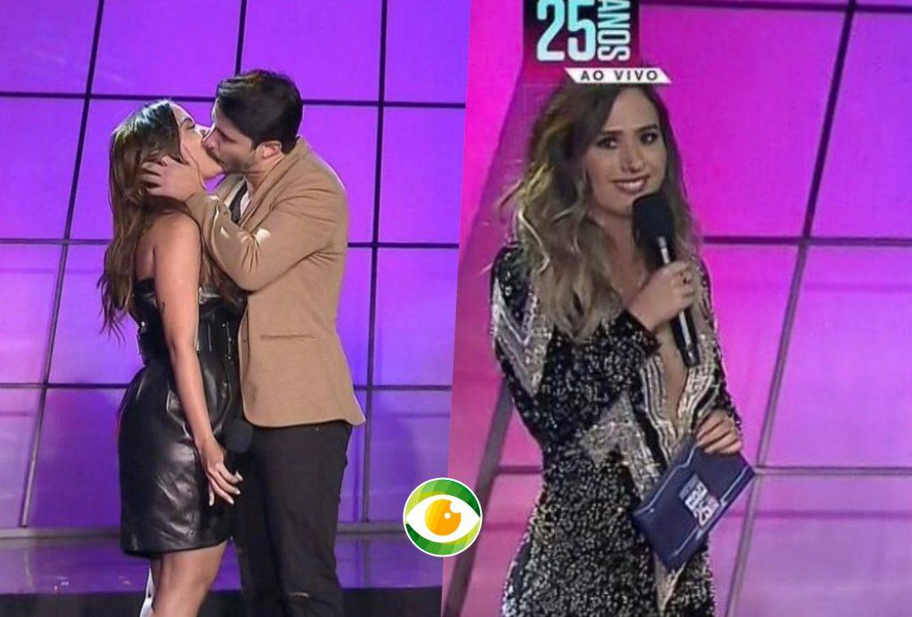 Anitta recebeu beijão de cantor no palco do Prêmio Multishow