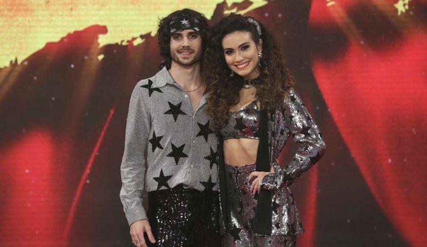 Fiuk e a professora Erica Rodrigues na Dança dos Famosos