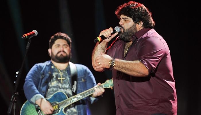 César Menotti e Fabiano (Foto: Globo/Nélio Rodrigues)