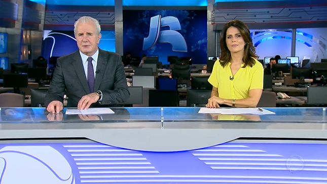 Celso Freitas e Adriana Araújo no Jornal da Record (Foto: Reprodução/Record)