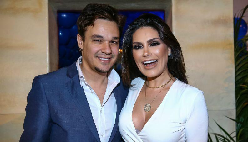 Natália Guimarães e o marido, Leandro (Foto: Divulgação(