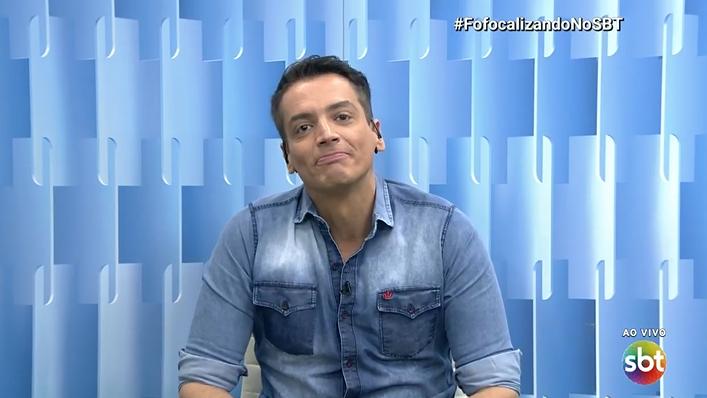 O jornalista Leo Dias no Fofocalizando (Foto: Reprodução/SBT)