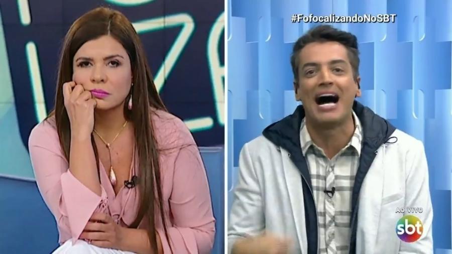 Mara Maravilha e Leo Dias no Fofocalizando (Foto: Reprodução/SBT)