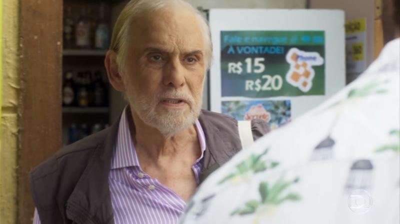Nestor (Francisco Cuoco) em cena de Segundo Sol (Foto: Reprodução/Globo)