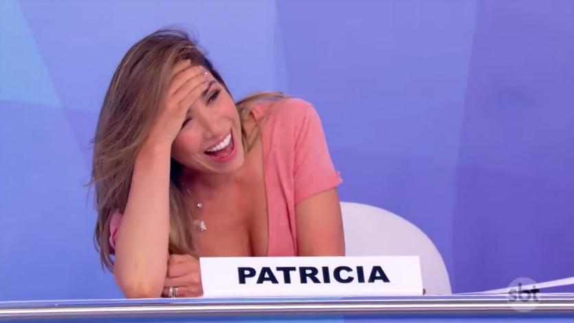 A apresentadora Patricia Abravanel no Jogo dos Pontinhos. (Foto: Reprodução)