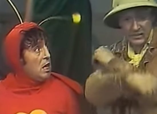 Regravação de episódio do Chapolin exibido pelo Multishow. (Foto: Reprodução/YouTube)